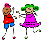 drawing of children dancing