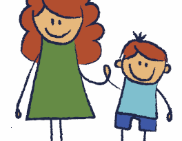 drawing of mother and child