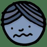Cartoon sad face