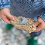 La naturaleza en Illinois. Las piedras y las rocas