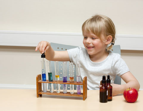 child designing an experiment