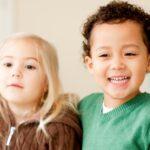 preschool-aged boy and girl
